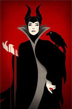 dark queen on red background