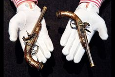 The two pistols. Photo: courtesy Sotheby's.