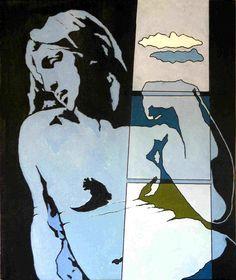 Tano Festa – Michelangelo secondo Tano festa, 1966, smalto su tavola, 81x100cm, Roma, Collezione privata.