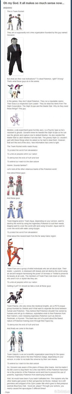 """Team Rocket were the good guys"" I have SO MANY THINGS to say to the person who believe's this is true.... As true as it may sound it leaves out a lot of different story points..."