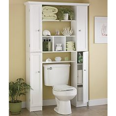 Such a great idea for maximizing the space around the toilet. Need this in upstairs bathroom for all the girls' stuff.