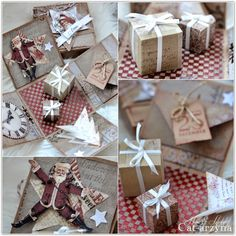 Cat-arzyna - Magical Christmas boxes. Would love these as place cards.
