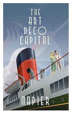 "Napier "" Art Deco City"" poster"