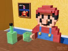3D pixel art by Metin Seven, via Behance