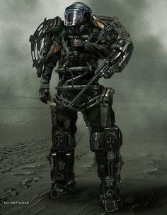 future, warrior, future soldier, futuristic, cyberpunk, robot great exoskeleton