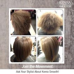 Spend more time celebrating this holiday season and less time styling your hair. Book your Kenra Smooth appointment today and eliminate up to 99% of curl and frizz after the first application!  *Image from a class at Onyx Salon on Travis AFB.