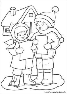 Julen farvelægning billede