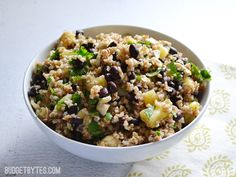 Pineapple Black Bean Salad - love it! I want to add a chopped jalapeño next time and maybe some apple cider vinegar for just a bit more acidity.