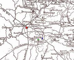 Encyclopédie Marikavel. Bataille de Carohaise. Chap. 6-17 : Castel-Laouenan. Localisation de Carohaise = Carhaix; Brocéliande = Brécillien / Bressillien, en Paule; Château - Jardin de Liesse * Castel-Laouenan, en Paule.