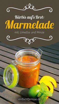 """Geniales Kürbis-Rezept: Kürbis-Marmelade mit Limette und Minze. Aus dem neuen Heft """"Kürbis"""" – gleich gratis anfordern bei einfachGemüse.de"""
