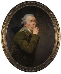 Le Discret by Joseph Ducreux-  when everyone else was painting deadpan portraits he was capturing awesome poses like this.