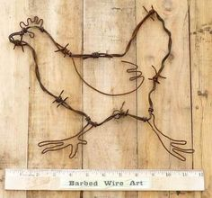 Chicken Wire Wall Art | ... Chicken Rooster Hen Western Barn Wall Decor Country Barbed Wire Art