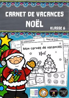 Carnet de Vacances: Noël (1. Lernjahr) – Unterrichtsmaterial in den Fächern Fachübergreifendes & Französisch History Class, Teaching French, Frosted Flakes, School, Words, Tens And Ones, Learning French For Kids, French Christmas, School Social Work