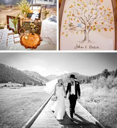 Squaw Valley Wedding- a very happy couple after saying their I do's