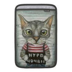 キュートな猫マグショット!MacBook Air用 スリーブ。 #zazzle #猫