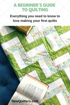 Everything you need to love making your first quilts is right here in this book: detailed photo tutorials that show you every step of making a quilt from start to finish, five fun and easy quilt patterns, four bonus fabric quilt labels, four bonus quilt block guides, AND a set of quilting needles. Grab your copy today. #quilting, #quiltpatterns, #quiltingtutorials, #quiltingforbeginners #newquilters.com, #familiuspublishing History Of Quilting, Quilting 101, Quilting For Beginners, Quilting Tutorials, Sewing Crafts, Sewing Projects, Rail Fence Quilt, Sewing Labels, Crocheted Bags