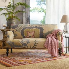 Comfortable and unique, this floral kilim loveseat enhances the character of any space. Dining Room Chair Cushions, Wayfair Living Room Chairs, Metal Dining Chairs, Funky Furniture, Home Decor Furniture, Home Furnishings, Furniture Ideas, Outdoor Tables And Chairs, Sofa Shop
