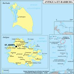 Carte Antigua et Barbuda