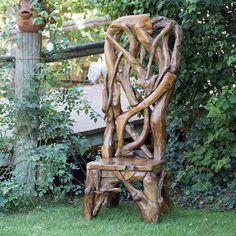 Garden Age Supply Habini Teak Driftwood King Chair # Garden Chair # Teak Outdoor Furniture # Stylish Garden Wooden Furniture # Furniture Design # Garden Decoration