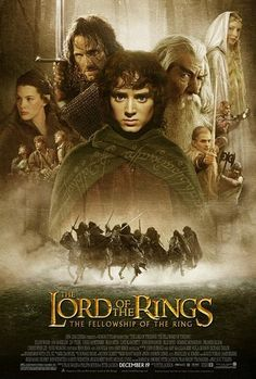 """""""Lord of the Rings: The Fellowship of the Ring"""" *Adventure/Fantasy by Peter Jackson (based on the novel by J. Tolkien) starring -- Elijah Wood, Ian McKellen, and Orlando Bloom Ian Mckellen, Bon Film, Film 2001, Epic Film, Elijah Wood, Viggo Mortensen, Orlando Bloom, See Movie, Movie Posters"""