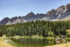 On the trail in the National Park Queyras by Uplander  landscape lake forest mountains water blue rock trail mirror hiking hiker Nikon France Parc the Alps