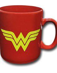 Wonder Woman Symbol & Logo Red 30 oz Ceramic Mug
