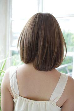 one-length  medium hair