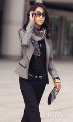 Nicely put together casual outfit.  Business casual attire for older women…