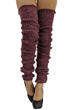 Dancers will surely love these super long cable knit leg warmers. They are 39 inches long & made of Acrylic & Nylon blend. The extra length is ideal for someone who wants full leg coverage fro Leg Warmers Outfit, Knit Leg Warmers, Wrist Warmers, Hand Warmers, Thigh High Leg Warmers, Thigh High Socks, Thigh Highs, Cosy Outfit, Workout Warm Up