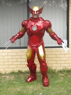 So much Adamantium! An Iron Man Wolverine mashup cosplay. Iron Wolverine! - 10 Iron Man Cosplays