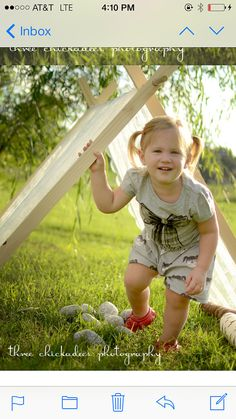 LACE Kids AFrame tent play pretend wooden by KateandEmilyDesigns, $75.00