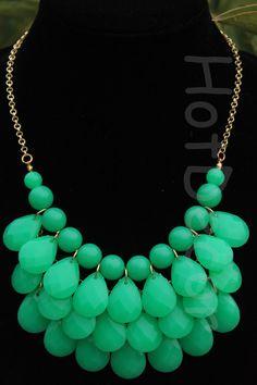 Green Bib Necklaces Statement necklaces Fashion by HotDecor, $12.99