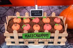 Halloween pumpkin cake pops