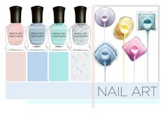 """""""Pastel Nails"""" by nmkratz ❤ liked on Polyvore featuring beauty and Deborah Lippmann"""
