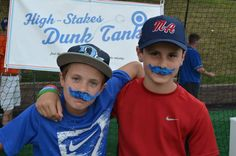 Camp Honda at the 2013 Little League® Baseball World Series.    These fans debuted their impressive facial hair between games.