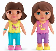 Fisher-Price Dora The Explorer Playtime Together Dora and Me Play Dates : Dora and Brunette Friend