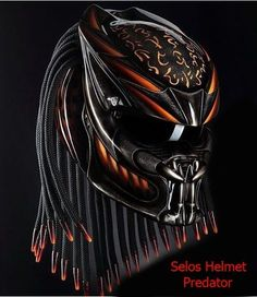 AMAZING PREDATOR HELMET STREET FIGHTER - DOT APPROVED