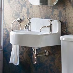 Arcade 500mm Cloakroom Basin Two Tap Hole with Overflow - ARC500-2TH