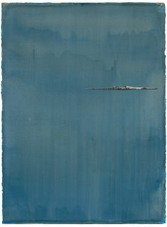 "Caroline Wright - Ile (22x30"" acrylic, ink, and masking tape on watercolor paper 2013)"