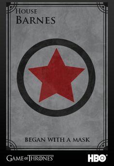 Game of Thrones/Marvel - House Sigils (House Barnes)