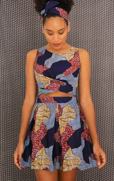 Create the perfect African pleated skirt with this easy sewing tutorial via thef… - DIY Kleide Modelle African Dresses For Women, African Print Dresses, African Print Fashion, African Attire, African Fashion Dresses, African Prints, African Print Top, African Dress Patterns, African Tops