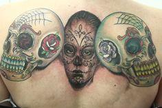 La SANTA MUERte! : DOne with Dragon Fly tattoo machines   mundodatattoo