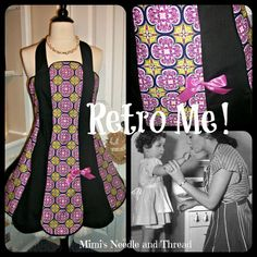 Retro Me handmade apron by mimisneedle on Etsy