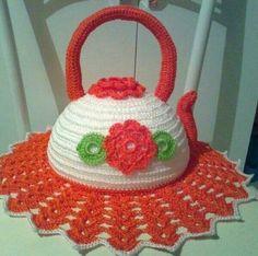 Everything for the kitchen in beautiful crochet work Source by Crochet Coaster Pattern, Crochet Flower Patterns, Crochet Motif, Crochet Doilies, Crochet Flowers, Crochet Tablecloth, Crochet Chicken, Crochet Pumpkin, Crochet Kitchen