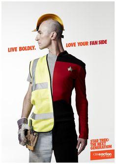 CBS: Star Trek: The Next Generation - National campaign by Studio Hansa , via Behance