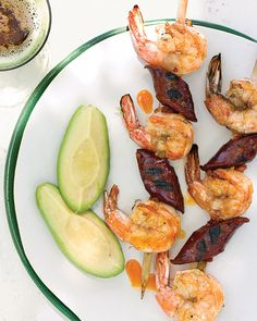 Grilled Shrimp and Chorizo on Skewers