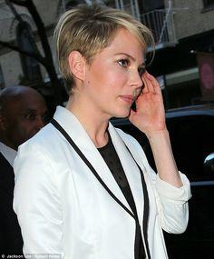Michelle Williams new undercut hairstyle