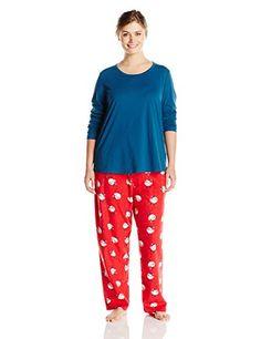 Jockey Women s Plus-Size Microfleece Pajama Set at Amazon Women s Clothing  store  2ddb76515