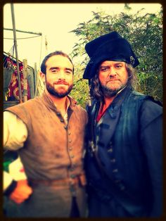 Joshua Sasse and Hugh Bonneville - #Galavant