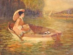Édouard Manet (French artist, - Woman in a Boat Edouard Manet, Pierre Auguste Renoir, Post Impressionism, Impressionist Art, Art Français, Francisco Goya, Paul Gauguin, Art Moderne, Claude Monet